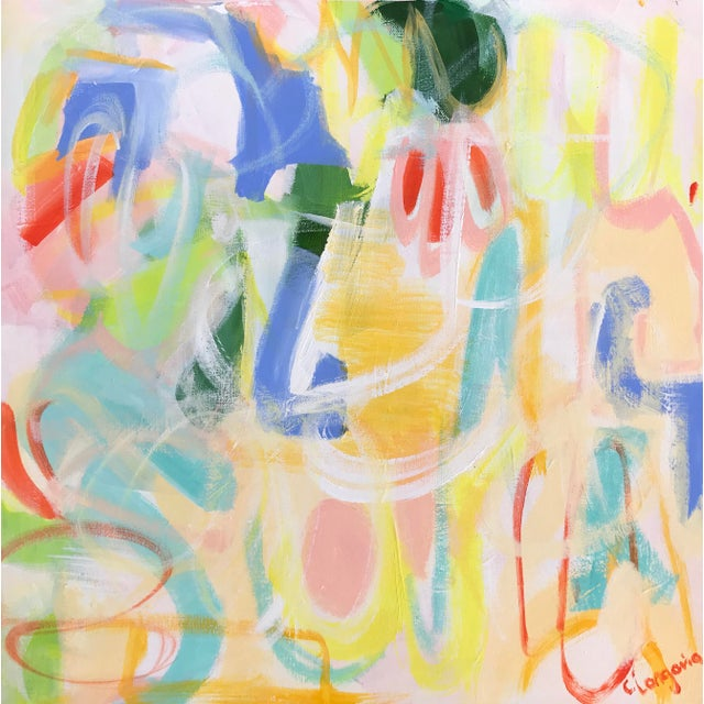 """""""Fiesta 1"""" original painting by abstract artist Christina Le Sesne Longoria. Original artwork completed in 2019, and part..."""