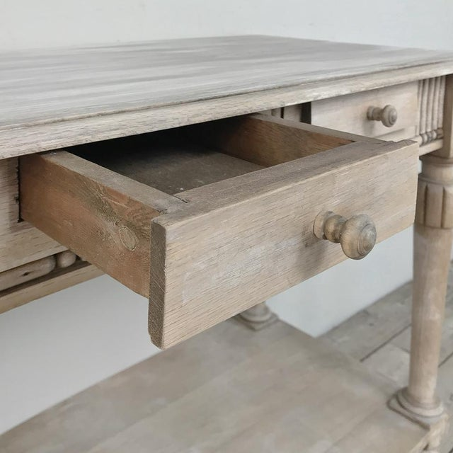 Antique Country French Whitewashed Console ~ Sofa Table For Sale - Image 12 of 13