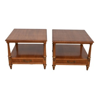 Mid Century Henredon Neoclassical Side Tables - a Pair For Sale