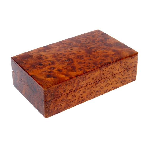 Decorative Juniper Burl Wood Box - Image 1 of 7