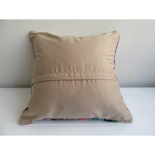 Contemporary Handmade Vintage Kilim Pillow Cover For Sale - Image 3 of 4