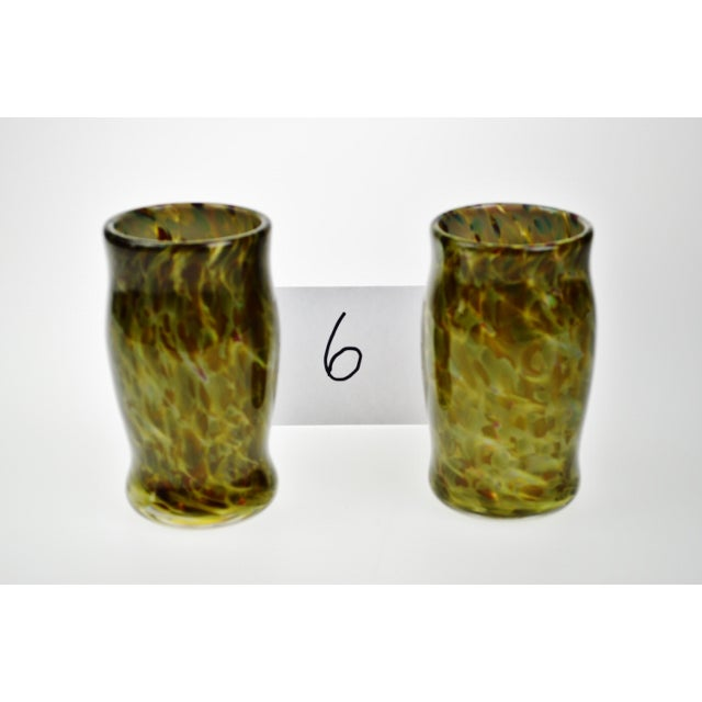 Hand-Blown Art Glass Vessels - A Pair - Image 6 of 11