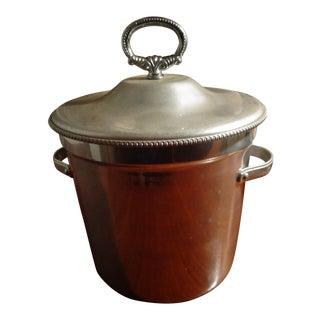 Mid Century Modern Aluminum Ice Bucket For Sale