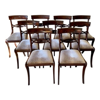 Philadelphia American Federal Dining Chairs Set of 10 For Sale