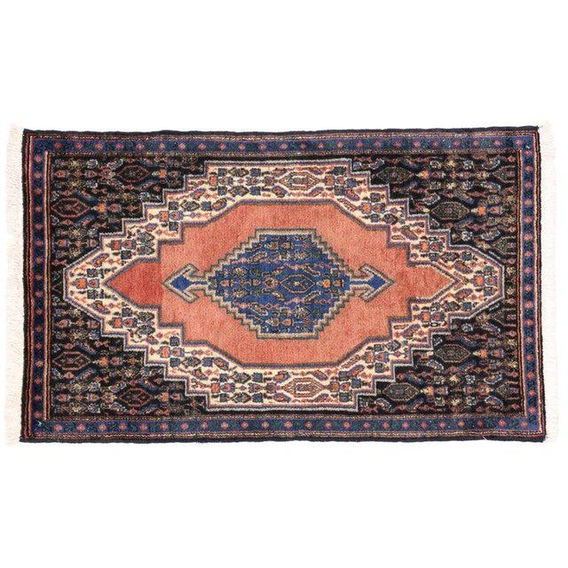 1970s Vintage Sanadaj Persian Rug, Kitchen Rug, Foyer or Entry Rug, 02'02 X 03'07 For Sale - Image 5 of 6