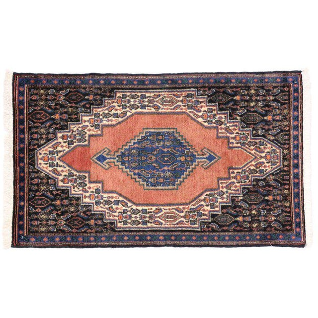 1970s Vintage Sanandaj Persian Rug, Kitchen Rug, Foyer or Entry Rug, 02'02 X 03'07 For Sale - Image 5 of 6
