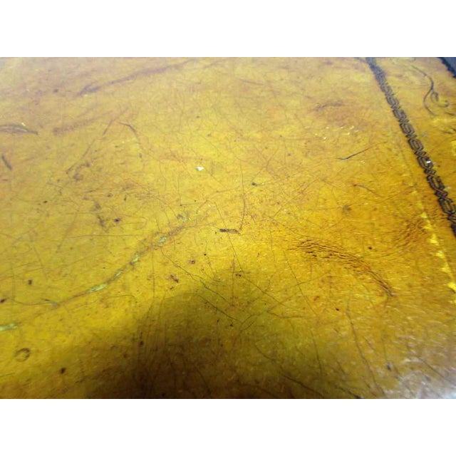 Leather Top Rolling Table - Image 10 of 10