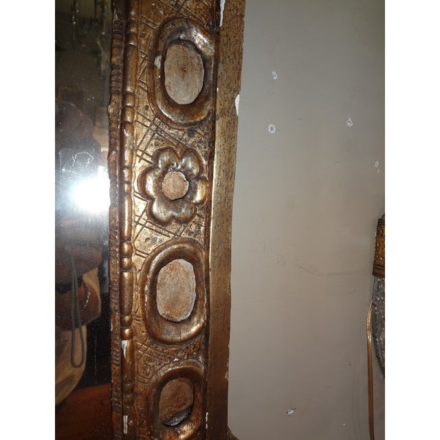 Gold 18th Century Italian Gilt Wood Mirror For Sale - Image 8 of 9