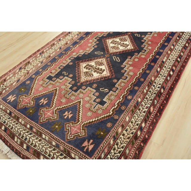 Persian Afshar Runner - 3'5'' X 9'3'' For Sale - Image 4 of 13