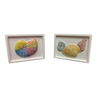 20th Century Shell Motif Wall Pockets - a Pair For Sale