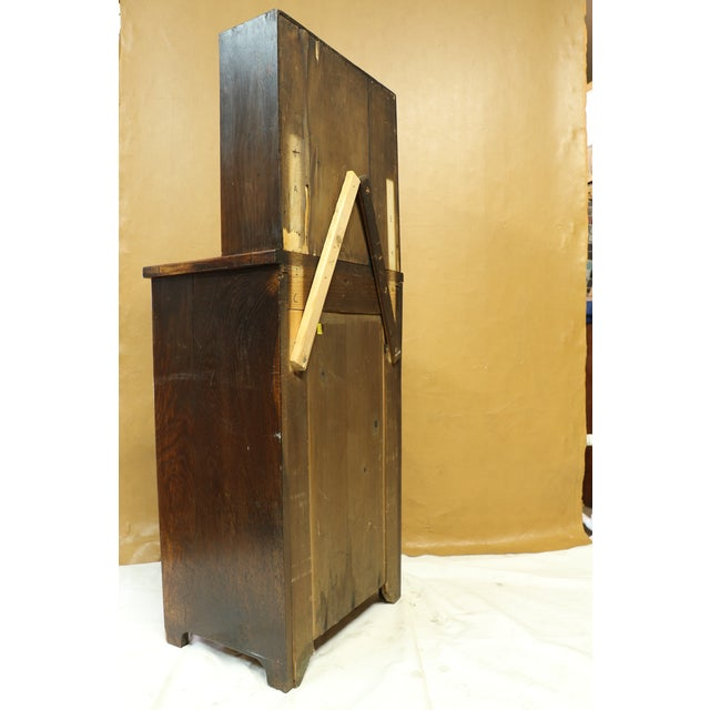 Antique American Two-Part Step Back Cupboard With Hutch For Sale - Image 11 of 13