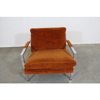 Milo Baughman Lounge Chair by Thayer Coggin/ Chrome Flat Bar Preview