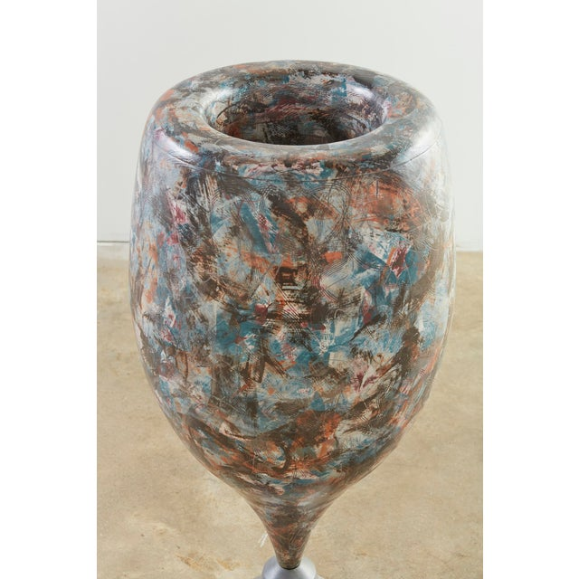 Contemporary Postmodern Ceramic Floor Vase by Marvin Bjurlin For Sale - Image 3 of 4