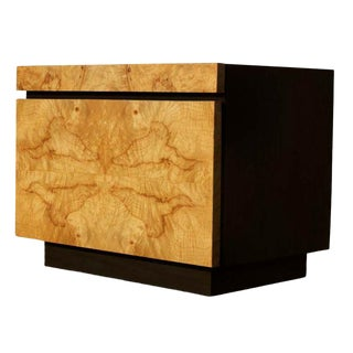 Burled Olivewood Night Stand For Sale