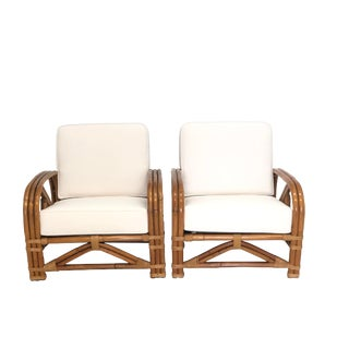 Mid Century Bamboo Lounge Chairs by Tropitan For Sale