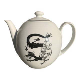 Rare Tintin Large Teapot by Axis-Paris For Sale