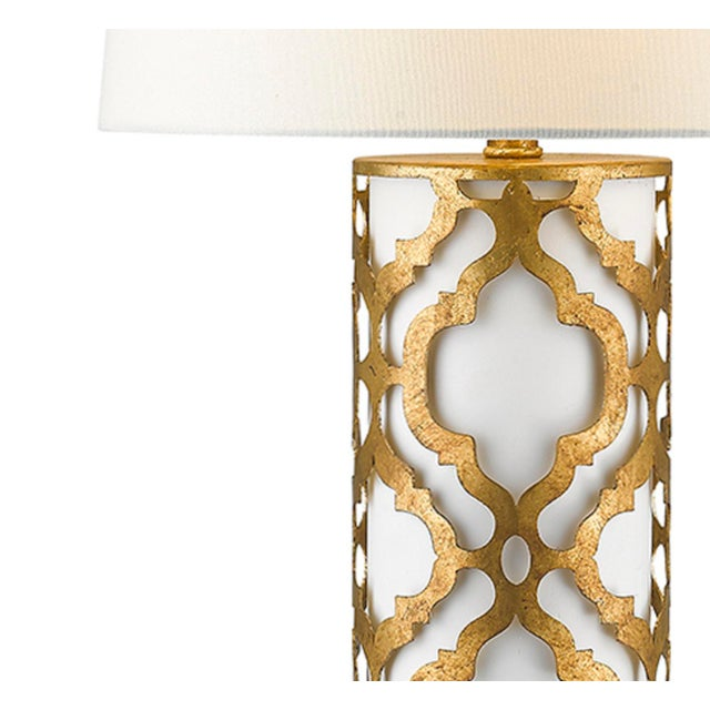 Contemporary Arabella Gold Table Lamp For Sale - Image 4 of 10