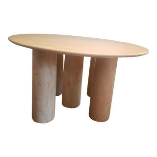 Travertine Il Colonnato Table by Mario Bellini For Sale