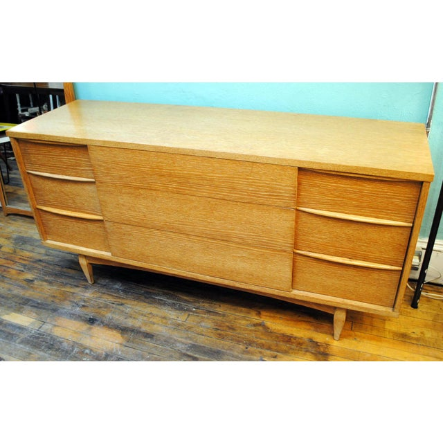 """1950's Limed Oak 9 Drawer Dresser by Kent Coffey. This is from """"The Escort"""" series by Kent Coffey which is a more RARE..."""