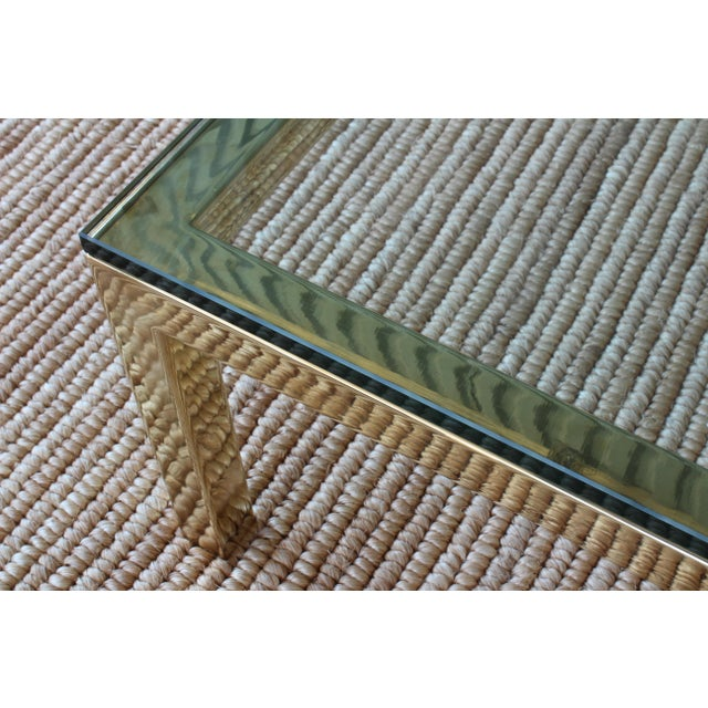 Hollywood Regency Brass Plated Coffee Table by James Howell, 1970s, USA For Sale - Image 3 of 11
