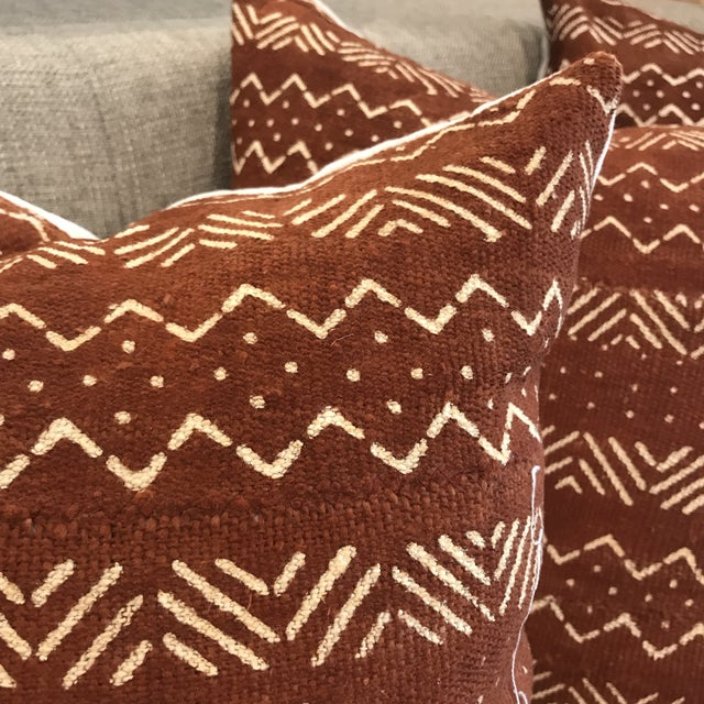 African Mudcloth Throw Pillow For Sale - Image 4 of 10