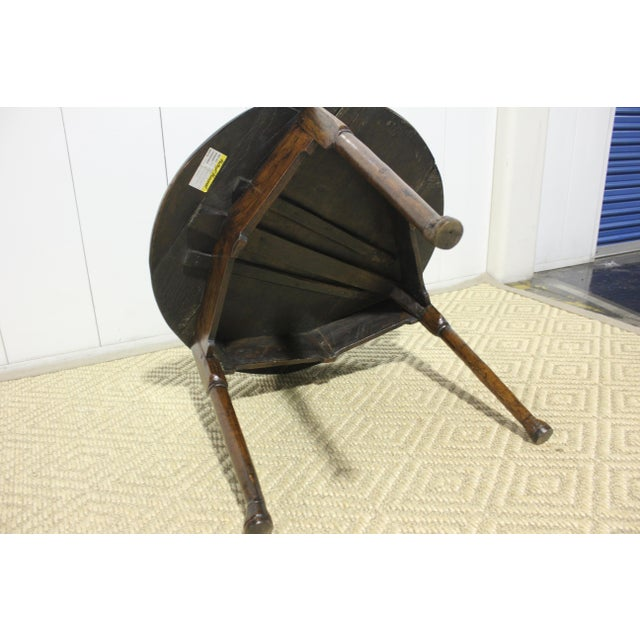 1900s Traditional Round Cricket Table For Sale In Los Angeles - Image 6 of 7