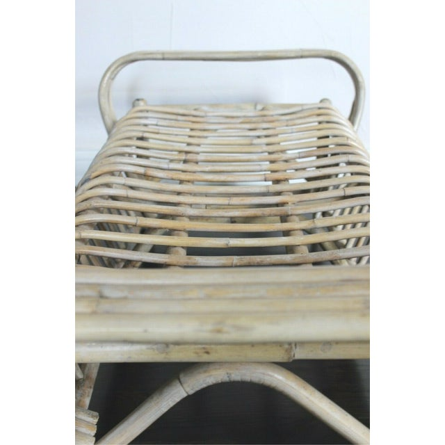 Bamboo Vintage Mid Century Bamboo Bentwood Sculptural Bench For Sale - Image 7 of 8