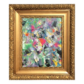 Abstract Expressionist in Motion Framed Painting For Sale
