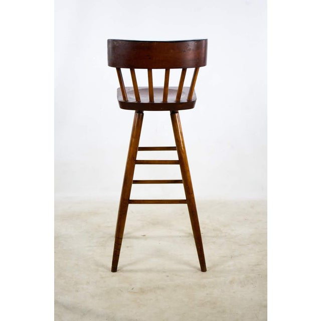 1900s English Traditional Mahogany Bar Stools - a Pair For Sale - Image 12 of 13