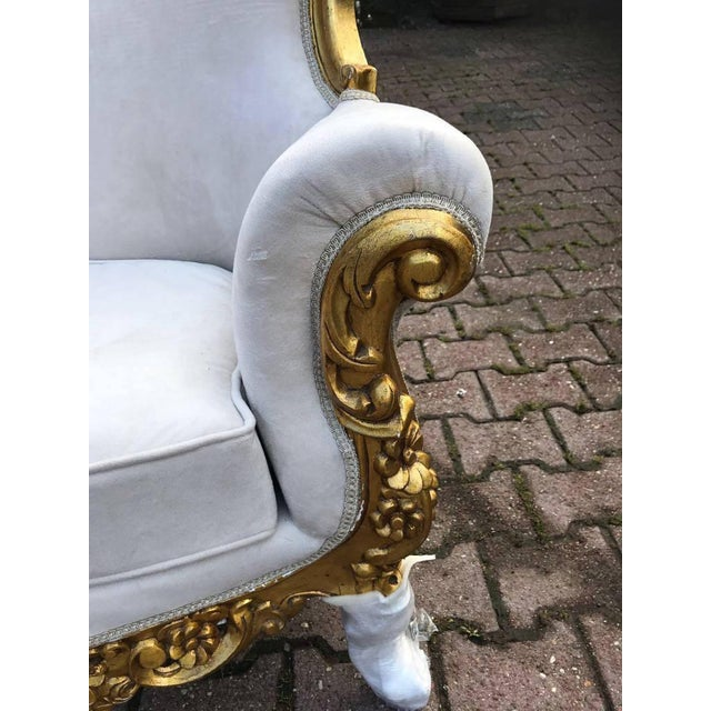 French Louis XVI Style Chairs - A Pair For Sale - Image 4 of 6