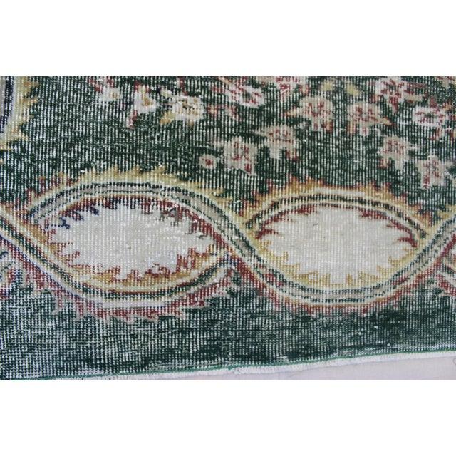 Vintage Hand Knotted Overdyed Turki̇sh Rug - 6′4″ × 9′5″ - Image 6 of 7
