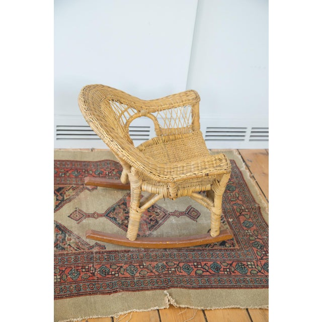 Vintage Boho Wicker Child's Chair - Image 5 of 6