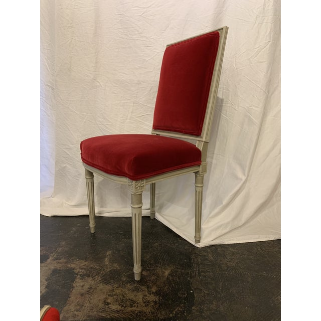 Louis XVI Louis XVI Style Dining Chairs Set of 4 For Sale - Image 3 of 6