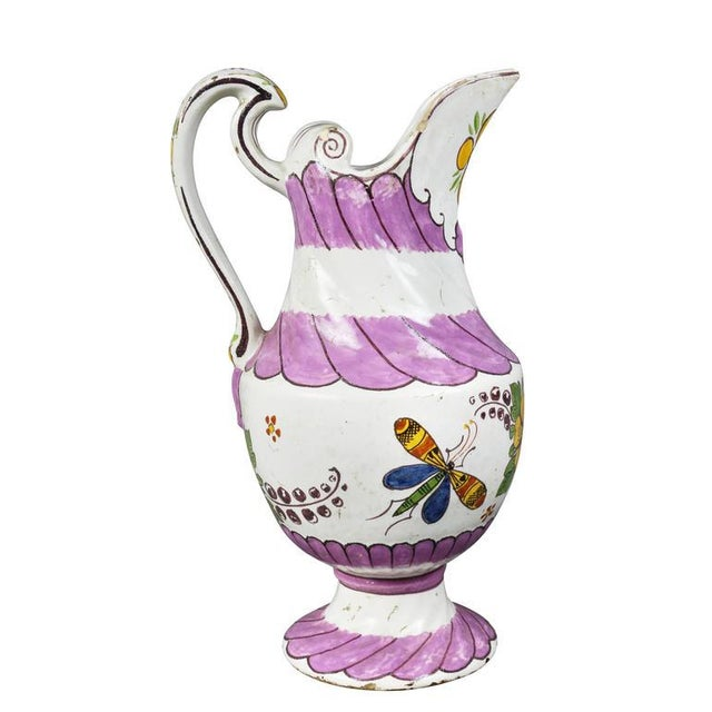 Late 18th Century Unusual Delft Pitcher For Sale - Image 5 of 10