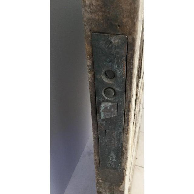 Antique Beveled Glass & Wooden Door - Image 9 of 10