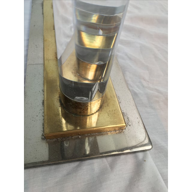 Romeo Rega-Style Lucite & Brass Coffee Table - Image 5 of 7