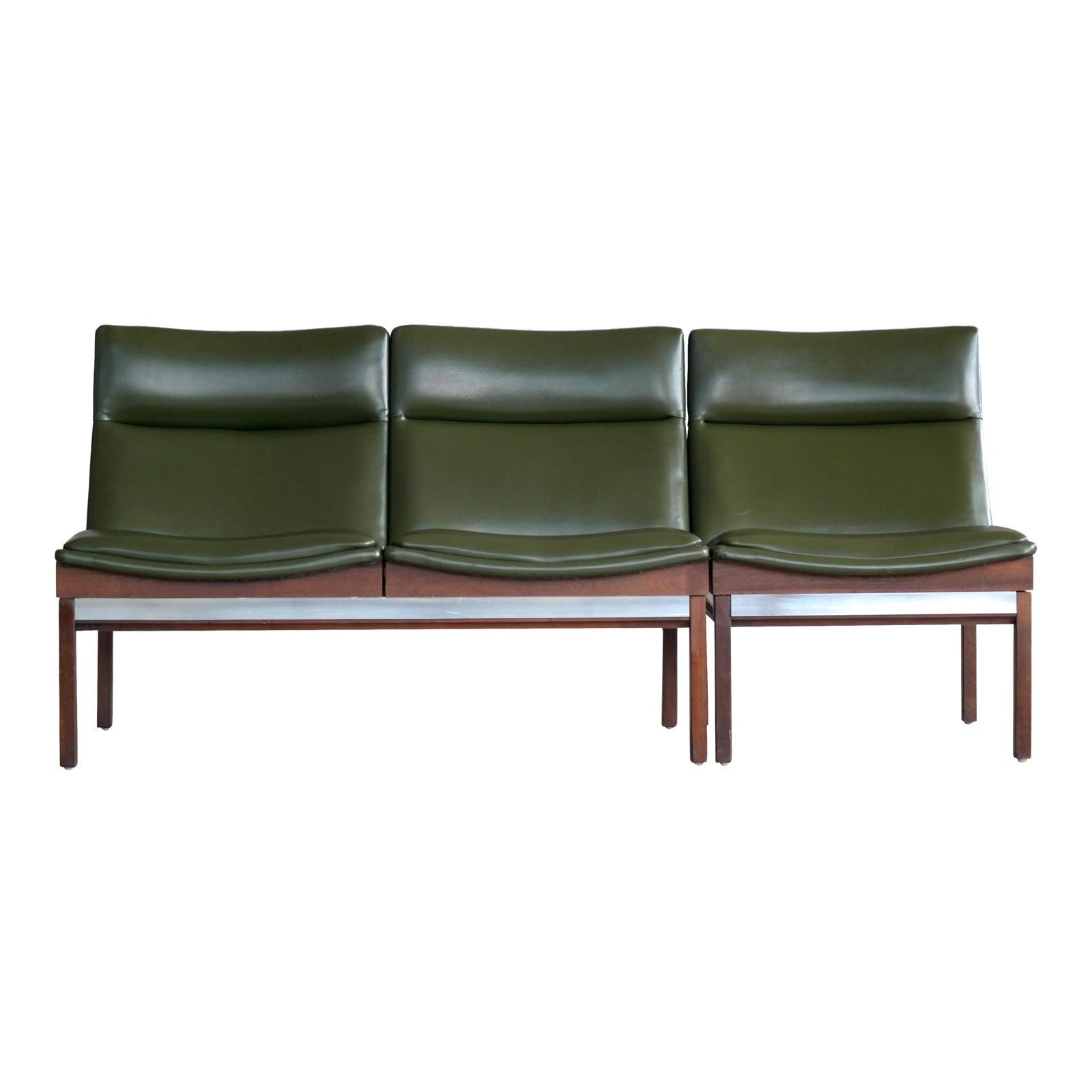 Arthur umanoff walnut modular sofa and chair set for madison furniture 1950s chairish