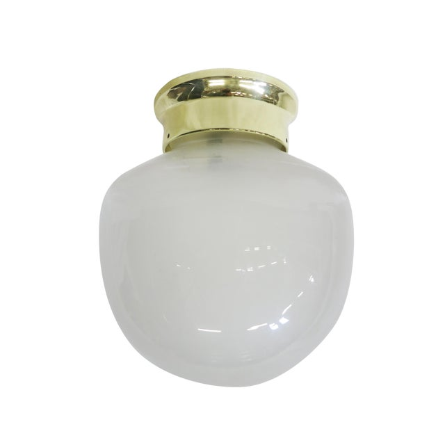 Small Vintage Gumdrop Ceiling Glass Globe Pendant For Sale