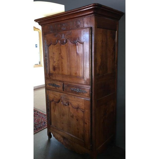 Antique 18th Century Fruitwood Bonnetiere - Image 3 of 8