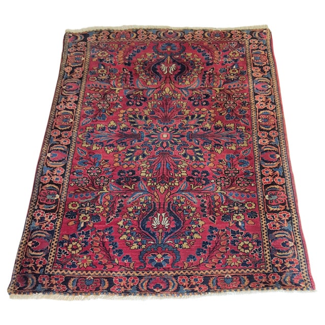 Brightly Colored Persian Rug - 3′4″ × 5′1″ - Image 1 of 4