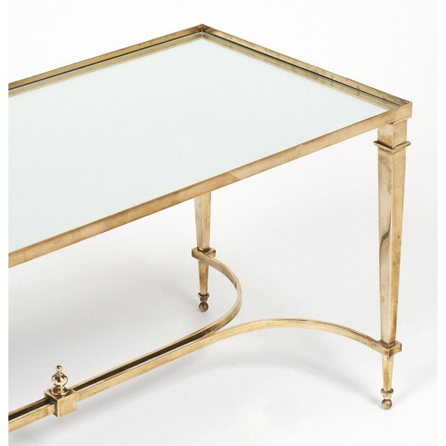 Brass Art Deco Brass and Mirror Coffee Table For Sale - Image 7 of 11