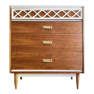 Mid-Century Modern Tall Dresser For Sale