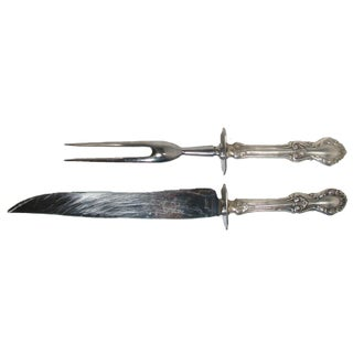 Sterling Silver Carving Set, C. 1948 For Sale