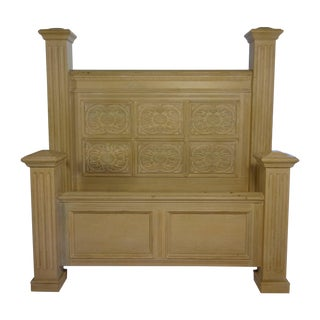 Hand Carved Queen Sized Bed For Sale