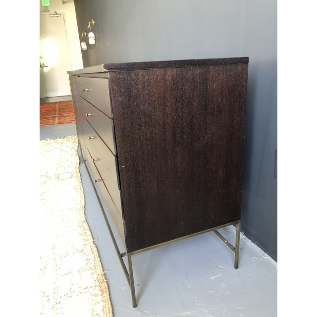 Mid-Century Modern Mid Century Paul McCobb for Calvin Irwin Collection Dark Brown Finish and Brass Buffet For Sale - Image 3 of 13