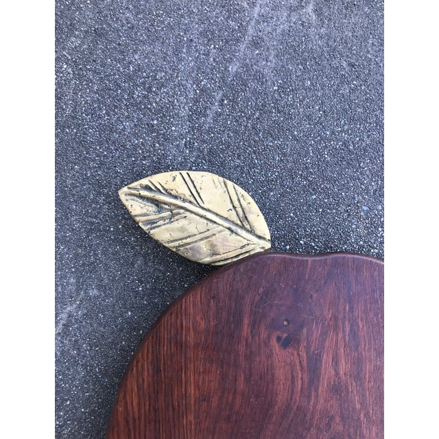 Teak Apple Shaped Cutting Board For Sale - Image 4 of 6