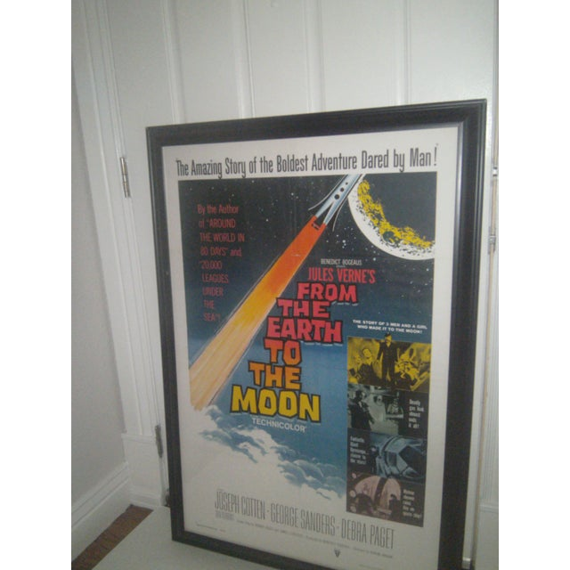 """Jules Verne's"""" From The Earth To The Moon"""" original Movie poster from 1958 a time when Sci-Fi flourished and was a movie..."""