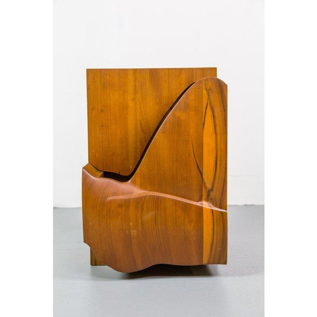 Wood Studio Furniture Wall Cabinet in Solid Walnut, 1970s, Us For Sale - Image 7 of 8