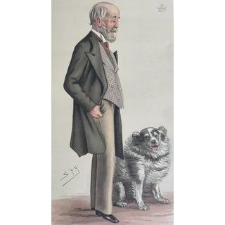 1883 Vanity Fair Fox Hunting Print of Lord Gardner and Dog