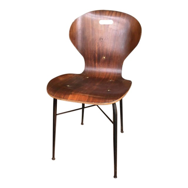 Rare Carlo Ratti Molded Plywood Dining Chairs, 12 Available For Sale